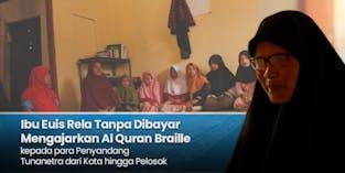 Ibu Disabilitas Ini Memerlukan Al Quran Braille untuk Mengajar