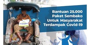 25.000 Paket Sembako Untuk Masyarakat Dampak COVID
