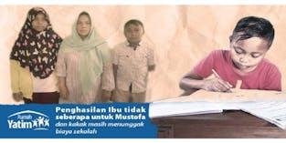 Pendidikan adalah Harapan Mustofa di Masa Depan