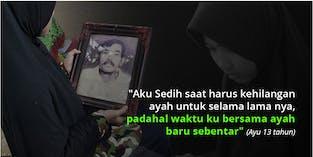 Usia 3 Tahun Kehilangan Ayah, Yatim Ini Rindukan Ayah Yang Sudah Tiada