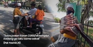 Jalan Terpincang, Pak Yasmin Jualan Koran Demi Nafkahi Keluarga