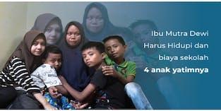 Bantu Selamatkan 4 Yatim dari putus sekolah