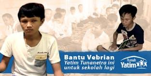 Vebrian Ingin Sekolah lagi Meski Tidak Bisa Melihat