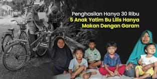 Hidupi 5 Anak Yatim Bu Lilis Keliling Jual Rujak Bebeg