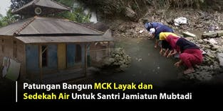 Bantu Puluhan Santri Qori Miliki Sumur Bor