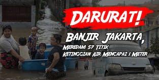 Aksi Peduli, Bantu Korban Banjir Jakarta