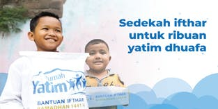 Sedekah Iftar untuk Ribuan Yatim Dhuafa