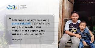 Supriyadi, Kakak Adik Yatim Piatu Berjuang Sekolah