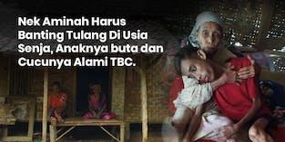 Nek Aminah Harus Banting Tulang Di Usia Senja, Anaknya buta dan Cucunya Alami TBC