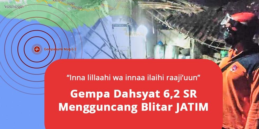 Gempa 6,2 M Guncangkan Blitar, Puluhan Rumah Hancur Warga Menjerit Histeris