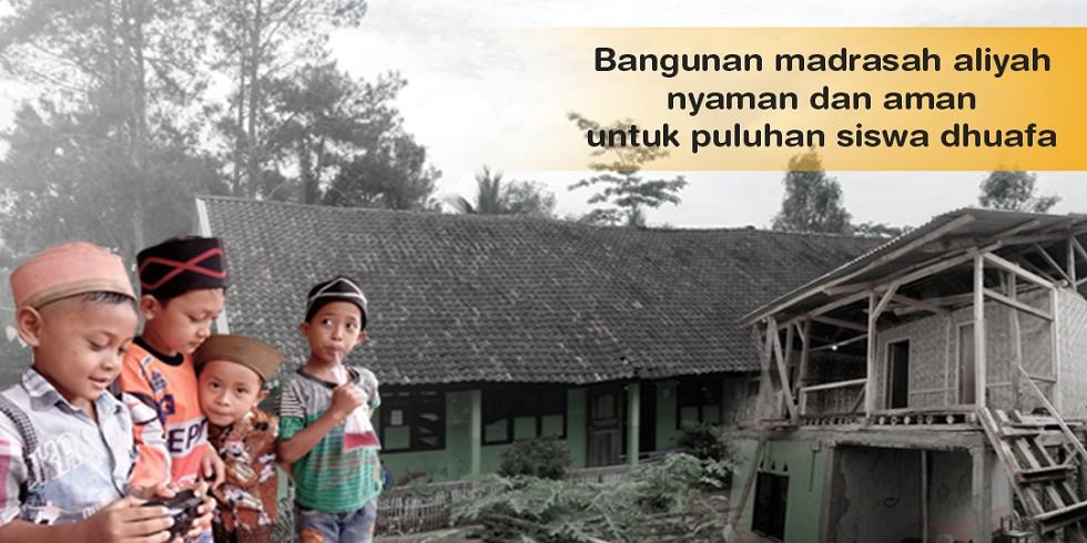 Bantu MA Daarul Fahmi Insani Yang Layak Dan Aman untuk Puluhan Siswa Dhuafa